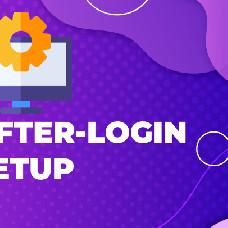 After-login setup - Manage the first impression