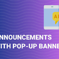 Pop-up banner – Make money on advertising