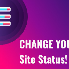 Site status - Prevent people from seeing your unfinished project and collect their contact details