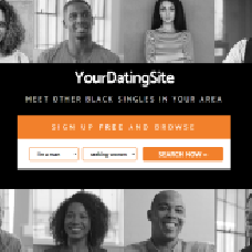 Black and Orange - dating website template