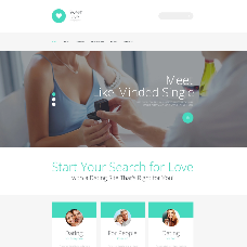 Dating Responsive Website Template