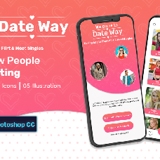 Date Way - dating app template
