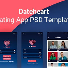 Dateheart - dating app template