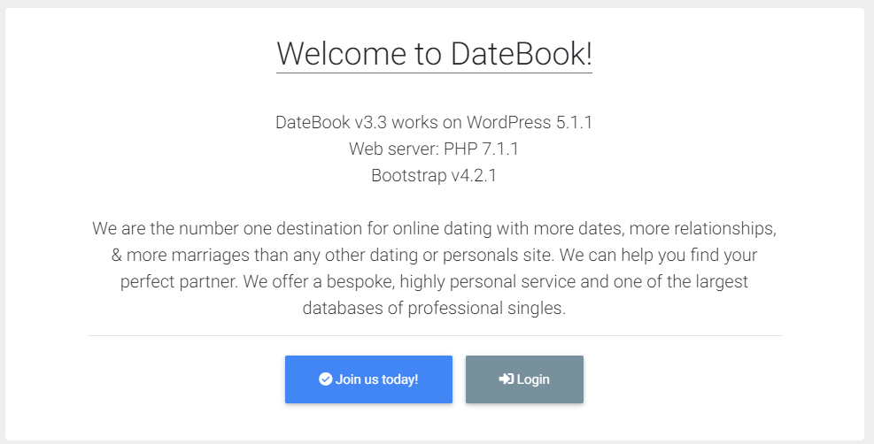 DateBook - dating website template
