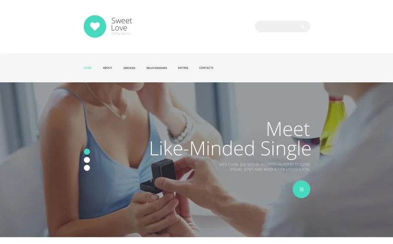 Dating Responsive Template - dating website template