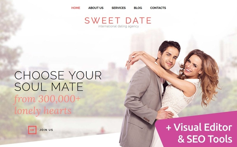 Sweet Date - dating website template