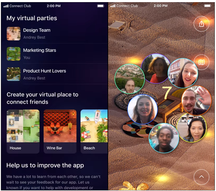 Video calls in virtual reality app — bring people together through virtual reality