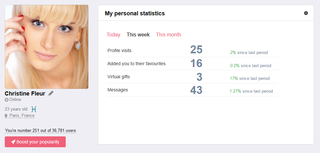 Personal profile statistics - Give people insight into how attractive their profile is