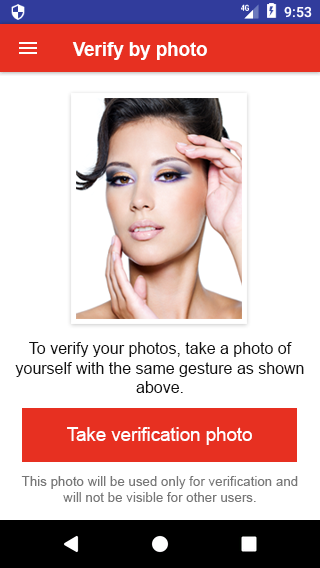 Photo verification - Repeat a gesture or a pose
