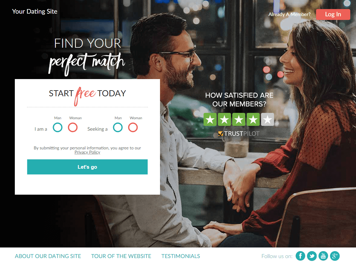 How to start a dating website with no members