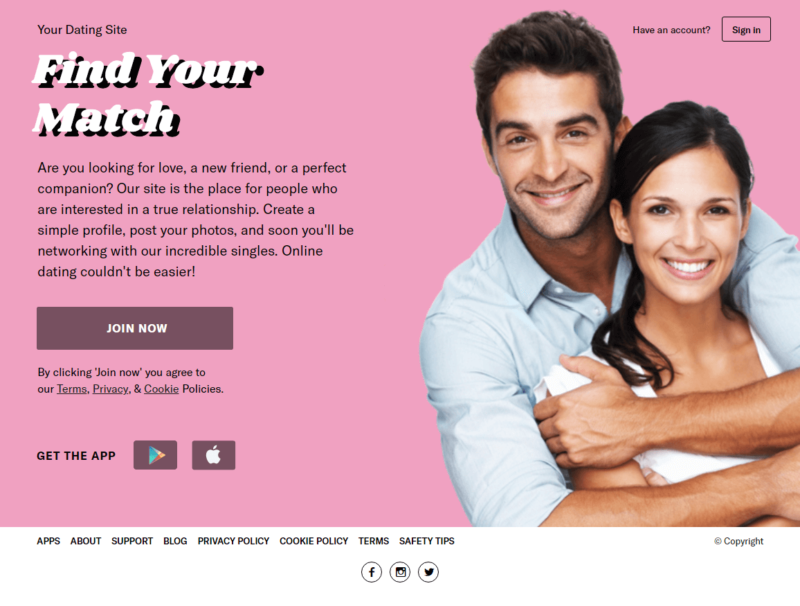 dating website are you interested