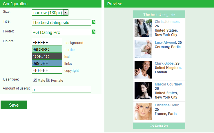 dating website usernames examples headline