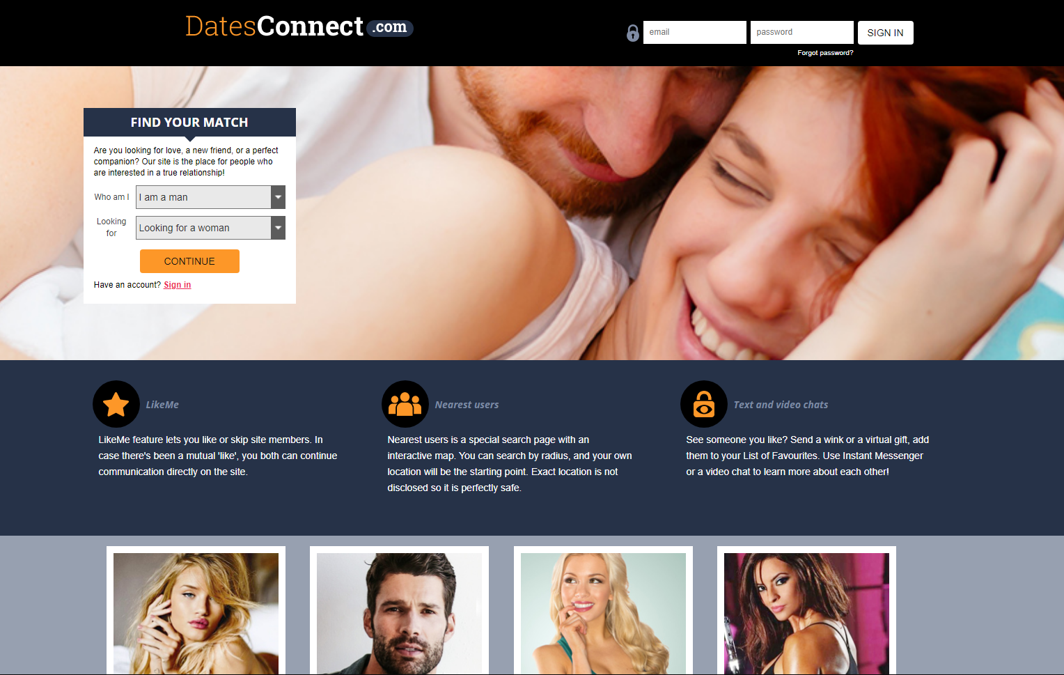Datesconnect.com website