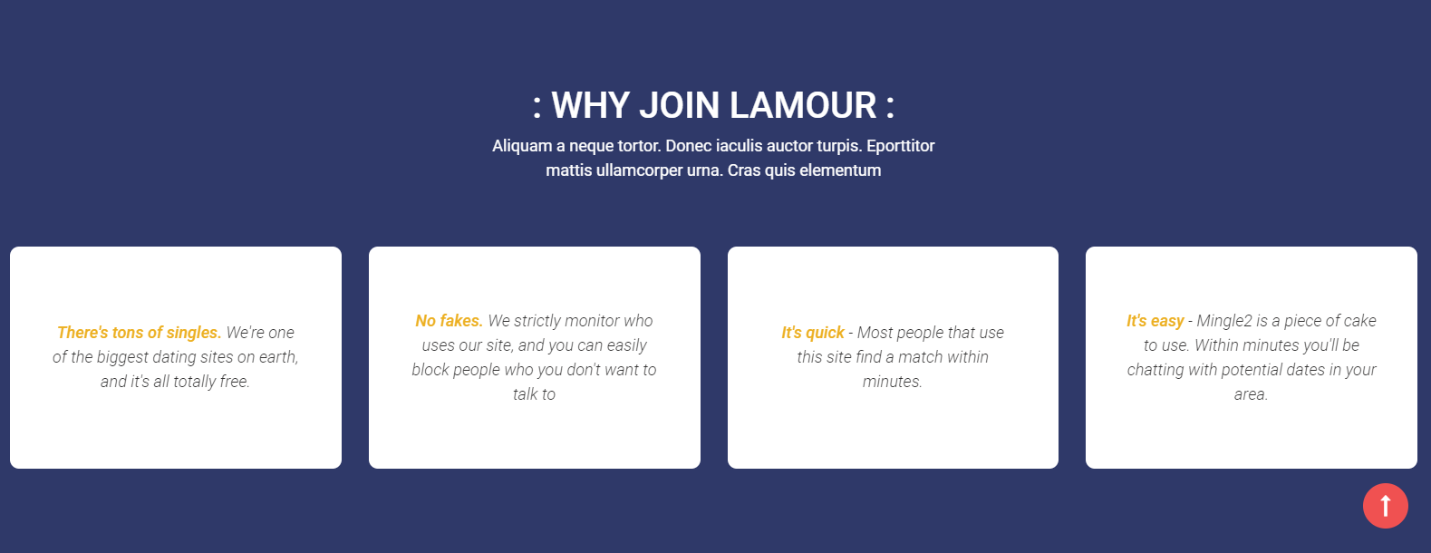 Lamour - Dating Website HTML5 Template integration