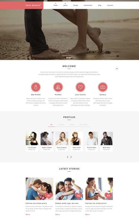 Love Hearts WordPress Theme
