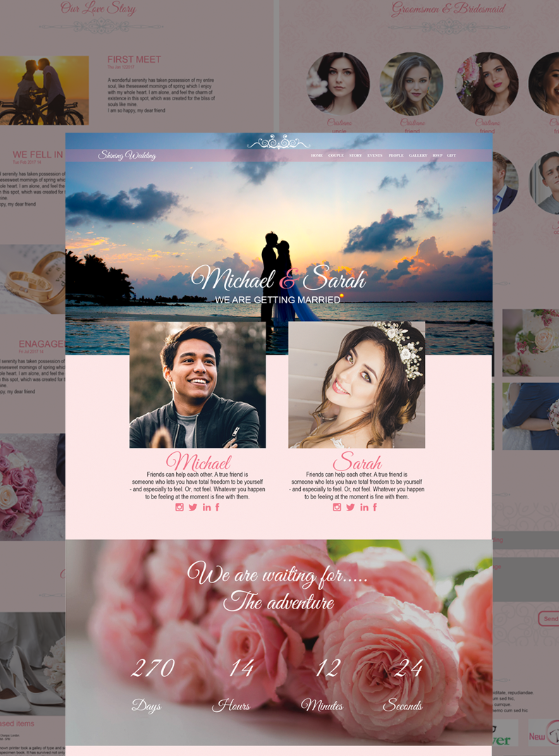 Shining Wedding Landing Page Template