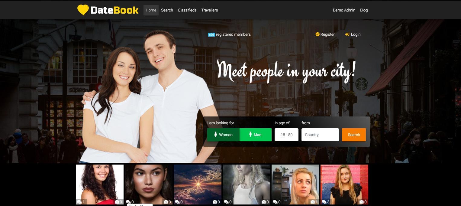 Wordpress tema Dating sito Web