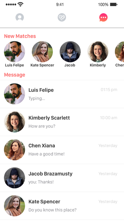 Binder - Tinder Dating clone App with admin panel - iOS/Android