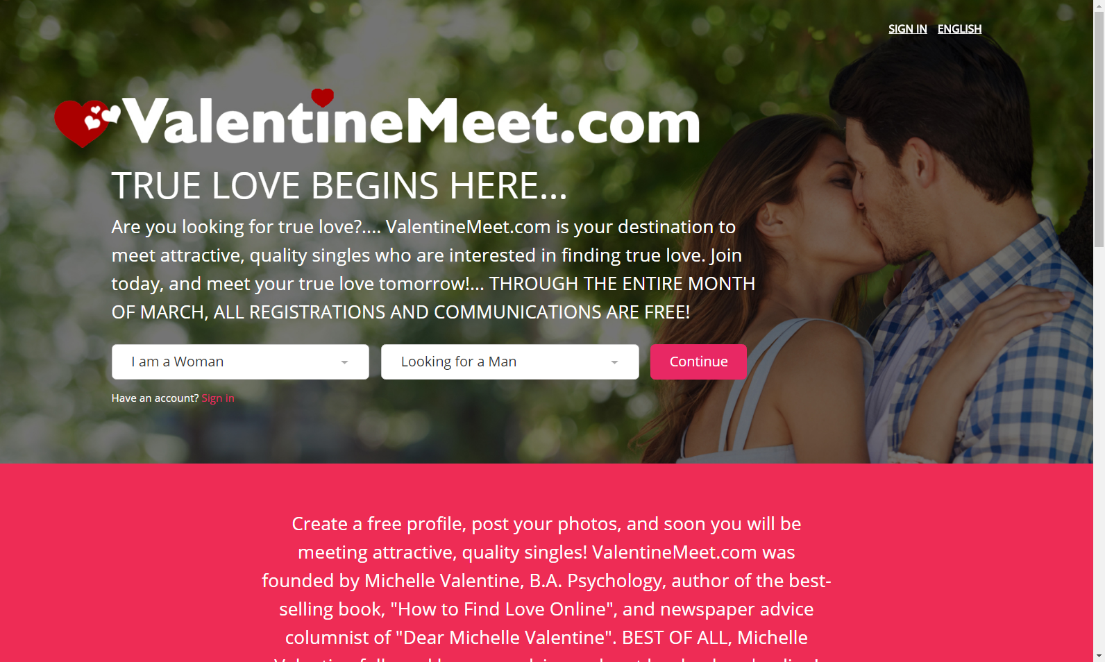 Dating site run by psychologist